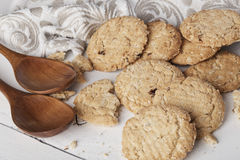 Biscuits de blé entier Photos stock