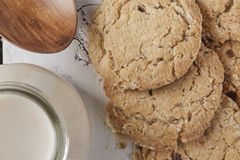 Biscuits de blé entier Photo libre de droits