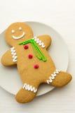 Biscuits de bonhomme en pain d'épice Photographie stock