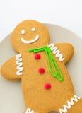 Biscuits de bonhomme en pain d'épice Images libres de droits