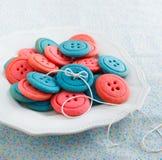 Biscuits de bouton de vanille Photographie stock