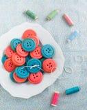 Biscuits de bouton de vanille Image stock