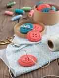 Biscuits de bouton de vanille Photos libres de droits