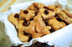 Biscuits de cadeau d'an neuf et de Noël Image stock