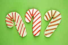 Biscuits de canne de sucrerie. Images stock