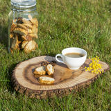 Biscuits de Cantuccini Photographie stock