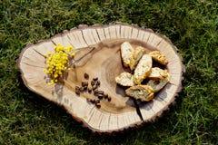 Biscuits de Cantuccini Photographie stock libre de droits
