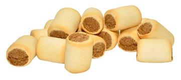 Biscuits de chien remplis par os à moelle photographie stock