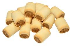 Biscuits de chien remplis par os à moelle photos stock