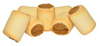Biscuits de chien remplis par os à moelle image stock
