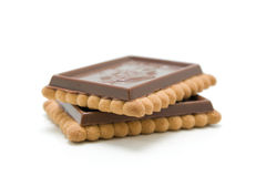 Biscuits de chocolat Photo stock
