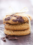 Biscuits de chocolat Photographie stock libre de droits