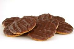 Biscuits de chocolat Photo stock