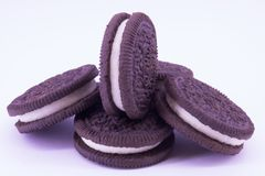 Biscuits de chocolat d'Oreo photo stock