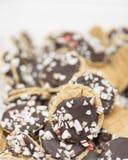 Biscuits de chocolat de menthe poivrée Images stock