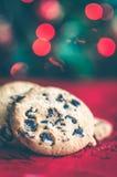 Biscuits de chocolat de Noël photographie stock libre de droits