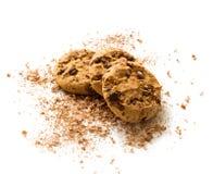 biscuits de chocolat de puce Photos stock