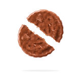Biscuits de chocolat sur le fond blanc Photos libres de droits