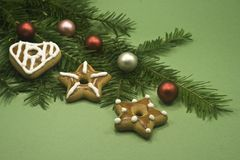 biscuits de chrismas de billes Photo stock