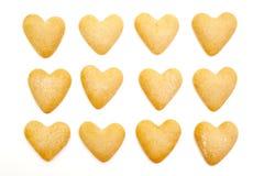 Biscuits de coeur images stock