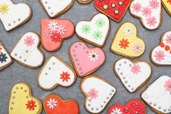 Biscuits de coeur Images stock