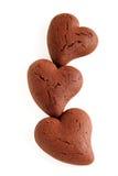 Biscuits de coeur Photographie stock libre de droits