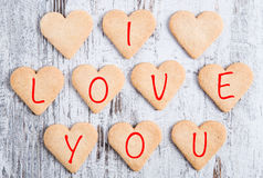 Biscuits de coeur Images libres de droits