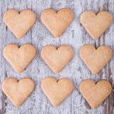 Biscuits de coeur Photographie stock