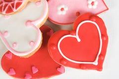 Biscuits de coeur Photos libres de droits