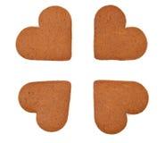 Biscuits de coeur - cadeau d'amour Image stock