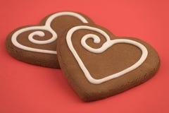 Biscuits de coeur d'amour Image libre de droits