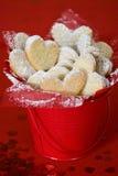 Biscuits de coeur de Valentines Photo stock