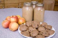 Biscuits de compote de pommes Photo libre de droits