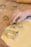 Biscuits de cuisson photographie stock libre de droits