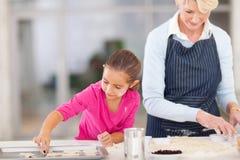 Biscuits de cuisson de grand-mère Images libres de droits