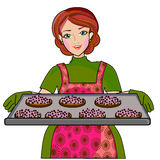 Biscuits de cuisson de mère Image stock
