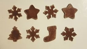 Biscuits de décoration de nouvelle année photo libre de droits