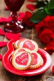 Biscuits de fête avec des coeurs Photos libres de droits
