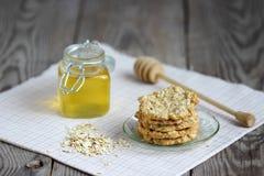 Biscuits de farine d'avoine Photo stock