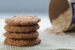 Biscuits de farine d'avoine Photographie stock