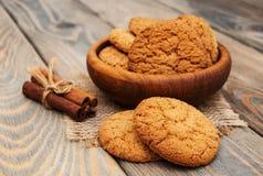 Biscuits de farine d'avoine Photos stock