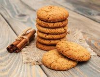 Biscuits de farine d'avoine images stock