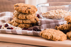 Biscuits de farine d'avoine photo libre de droits