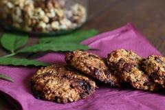 Biscuits de farine d'avoine de banane photographie stock libre de droits