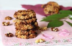Biscuits de farine d'avoine de banane images stock