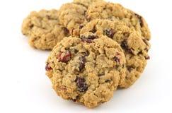 Biscuits de farine d'avoine de canneberge Image libre de droits
