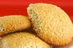 Biscuits de farine d'avoine faits maison photo libre de droits