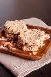 Biscuits de farine d'avoine faits maison Photographie stock