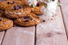 Biscuits de farine d'avoine faits maison photo stock