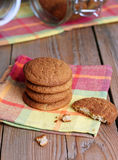 Biscuits de farine d'avoine frais Image stock